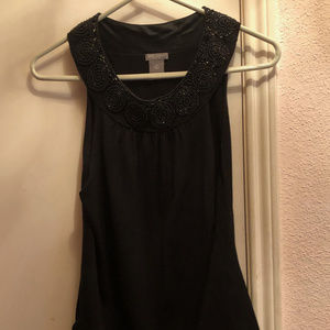 Ann Taylor Silk Blend top with beading